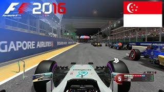 F1 2016 - 100% Race at Marina Bay Street Circuit, Singapore in Hamilton's Mercedes