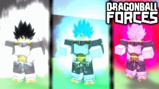 ALL TRANSFORMATIONS + MOVES! | ROBLOX DRAGON BALL FORCES!