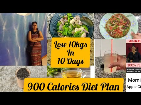 How to Lose Weight Fast 10 kgs in 10 Days /900 Calories diet plan for weight loss#RichNutrition