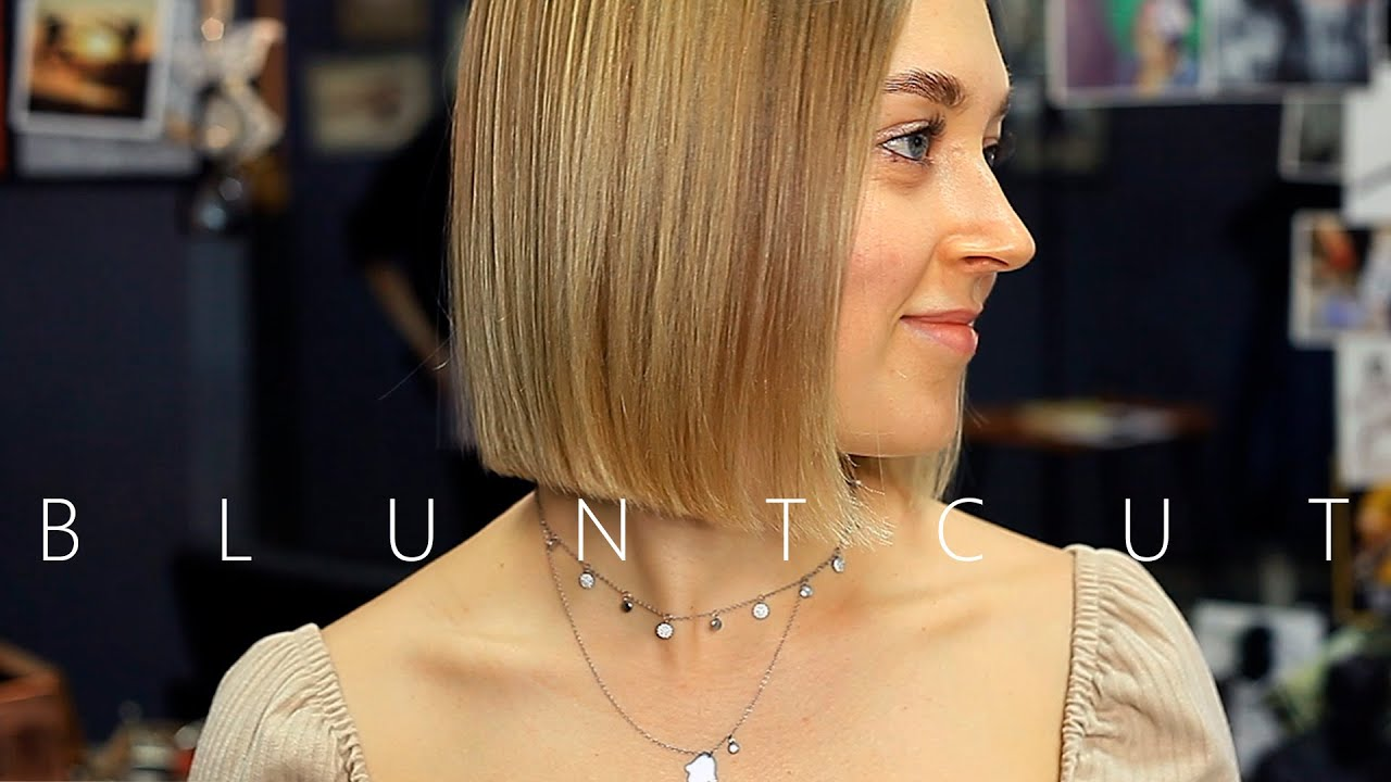 ✂️ Perfect Blunt Bob Haircut. tutorial - YouTube