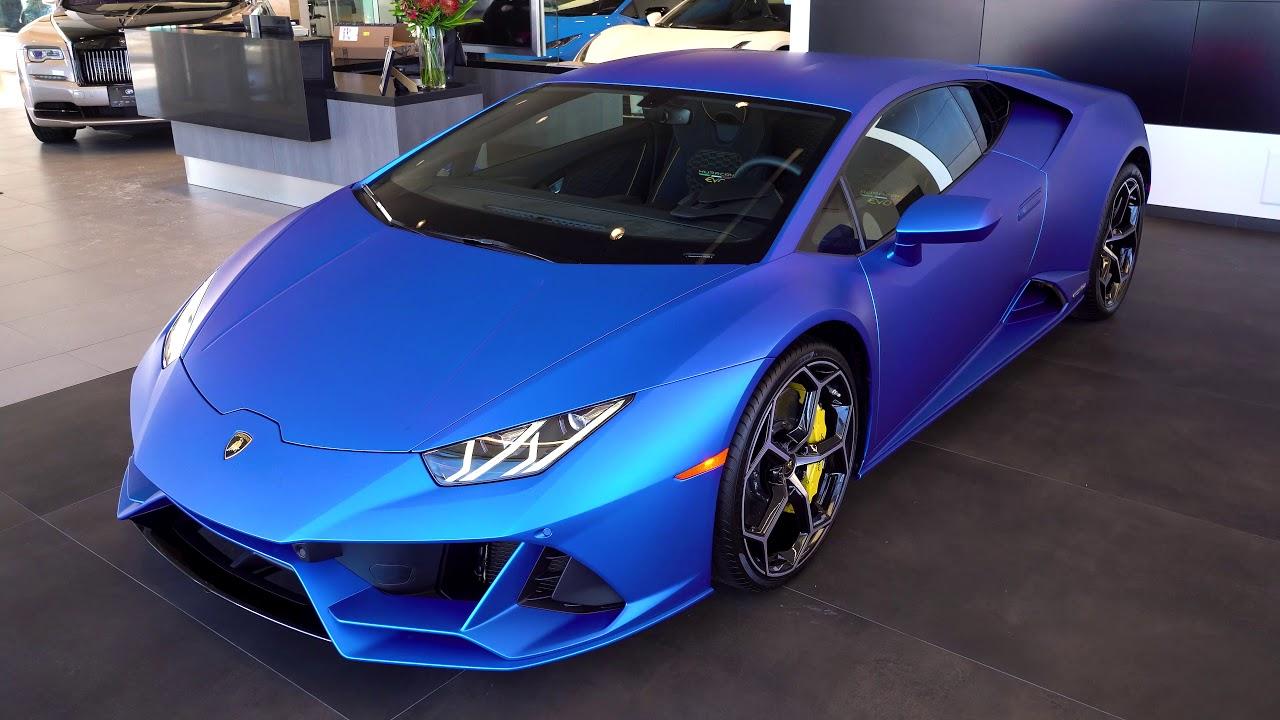 CHECK OUT This 2020 Lamborghini Huracán EVO in Blu Aegeus ...