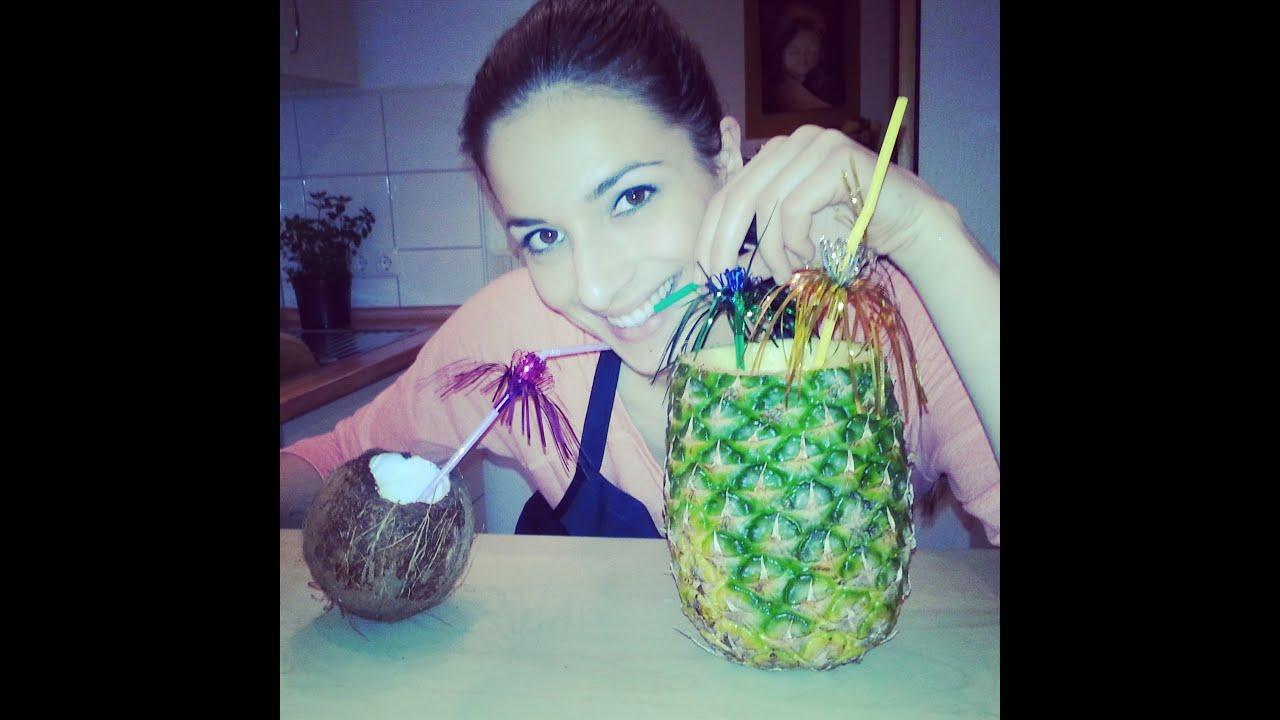 Sally S Welt: Fruchtiger Und Cremiger Ananas-Kokos-Cocktail / Wie öffne