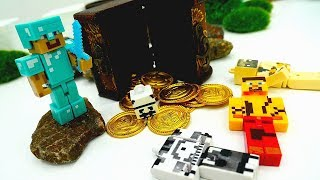 Видео #Майнкрафт 👊 Битва за СУНДУК с Золотом! #Minecraft игра и реальность! Игрушки #МайнкрафтЛЕГО