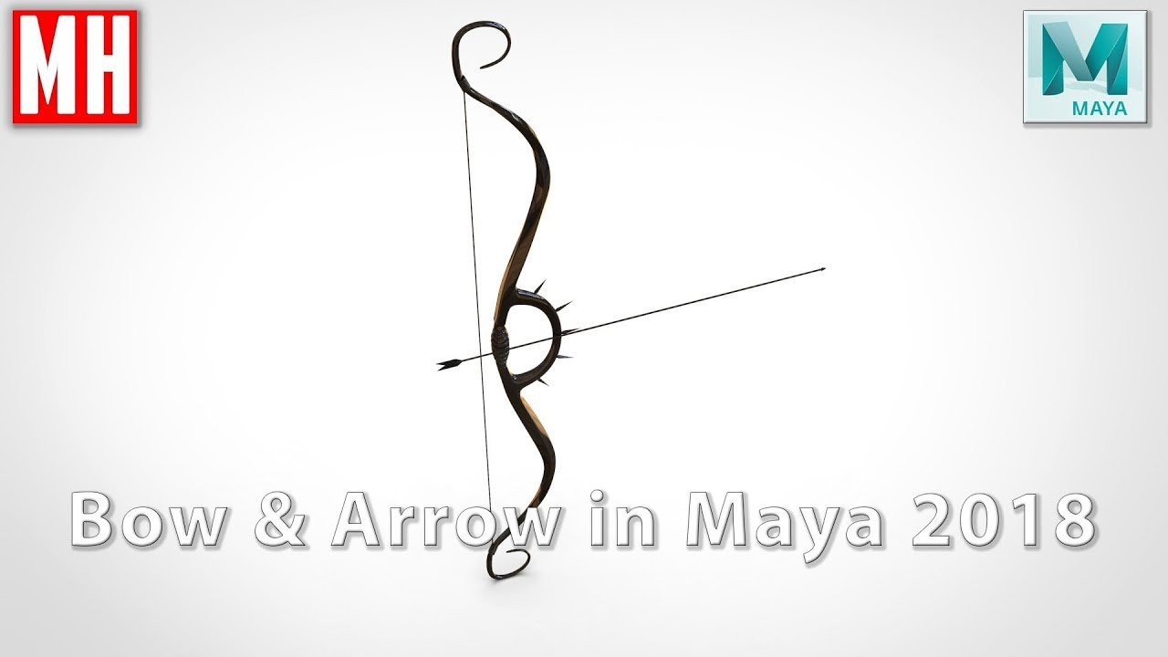 Video How to model a 3D Bow & Arrow in Maya 2018