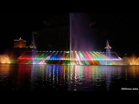 ⛲ Kuching Waterfront's Darul Hana Musical Fountain at Sarawak River (Inaugural Launching)