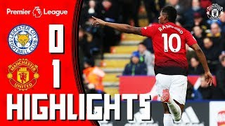 Highlights | Leicester 0-1 Manchester United | Rashford strike wins it for the Reds!