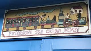 Matt's playtime.  Matt taking his sister Sarai for Ice Cream at Peterson's Ice Cream Depot