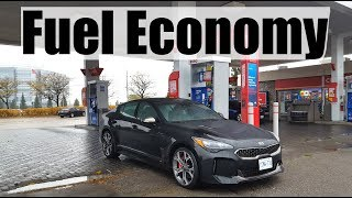 2019 KIA Stinger - Fuel Economy MPG Review + Fill Up Costs