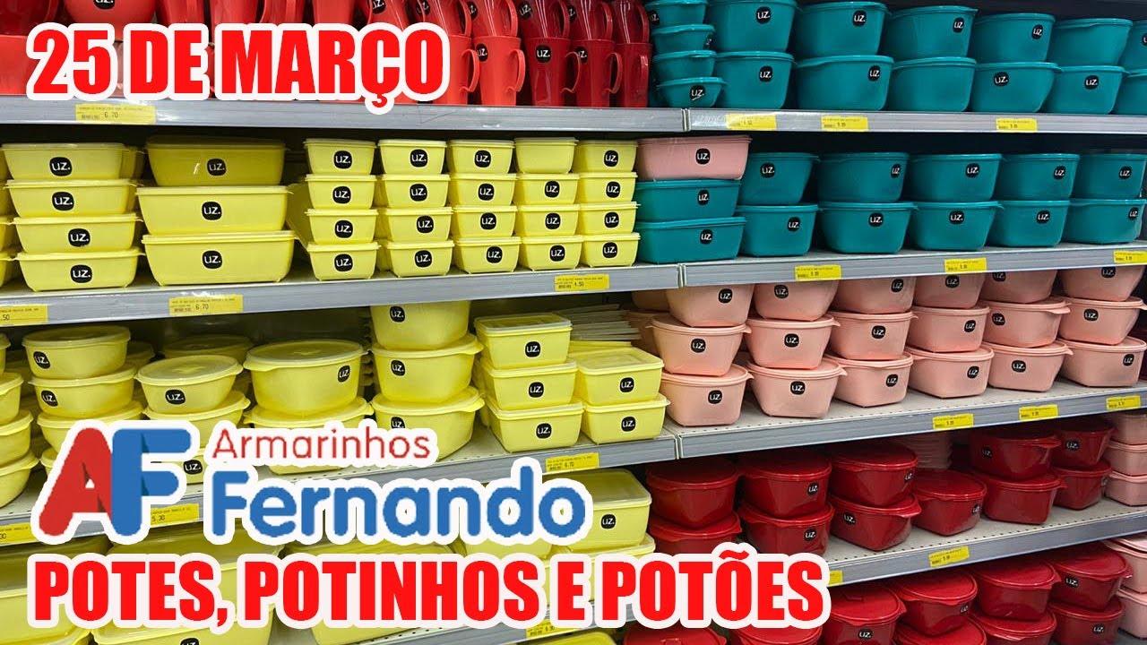 25 DE MARÇO - TOUR UTILIDADES DOMÉSTICAS NO ARMARINHOS FERNANDO - TODOS OS POTES