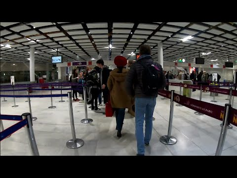 2019 Entire Departure Procedure CDG Paris Charles De Gaulle Airport From Train To Cabine