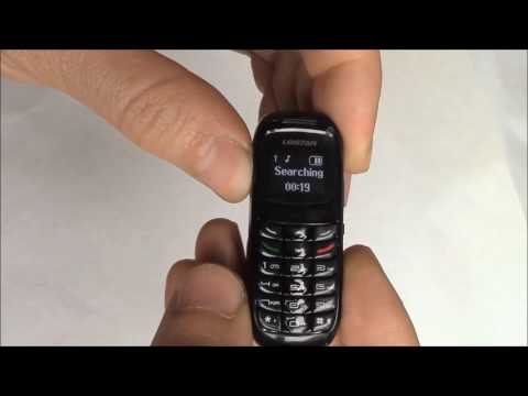 The World's Smallest Phone BM70 Setup Instructions Review And Unboxing