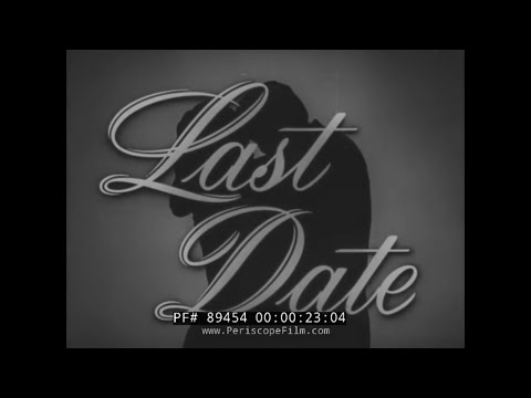 "CLASSIC DRIVER'S EDUCATION SCARE FILM ""THE LAST DATE"" 89454"