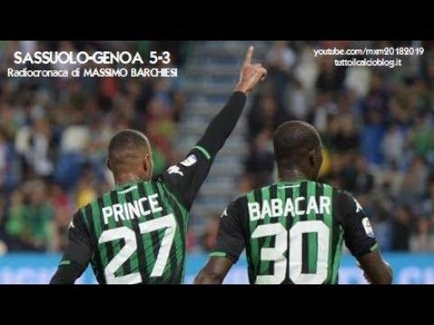 SASSUOLO-GENOA 5-3 - Radiocronaca di Massimo Barchiesi (2/9/2018) da Rai Radio 1