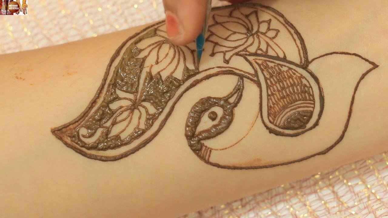 Mehndi design 2017 peacock - How To Make Beautiful Henna Peacock Mehndi Draw Mehndi Designs For Hands Legs Youtube