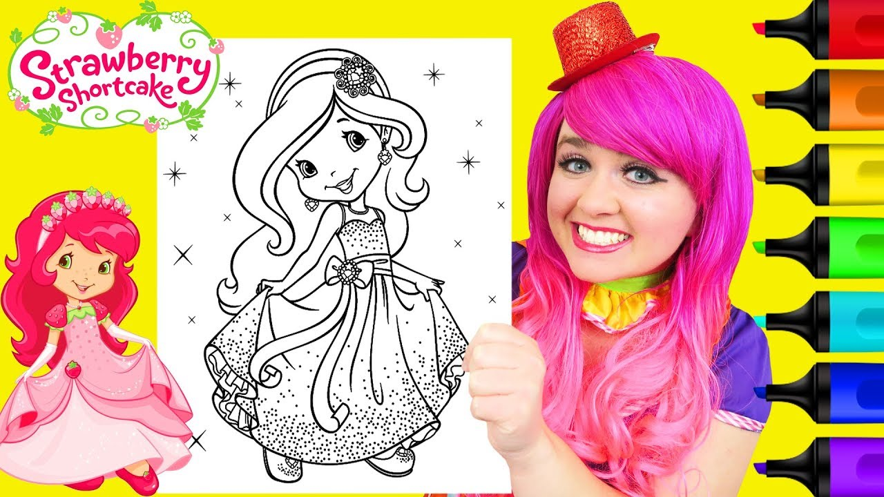 Strawberry Shortcake Coloring Page from Berry Bitty Mysteries DVD | 720x1280