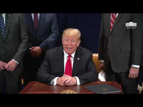 President Trump Signs a Presidential Memorandum
