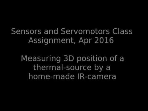 Measuring 3D Position of a Thermal-source by a Home-made IR-Camera