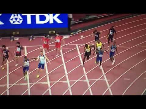 Usain Bolt injury (pulled hamstring) 4x100m Relay Men Final IAAF World Champs 2017