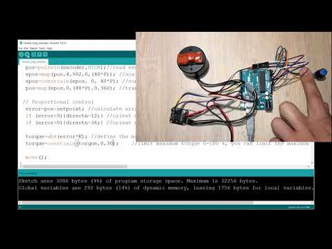 Arduino Brushless DC Motor (BLDC) FOC Control Part 5 - Closed Loop Control Servomotor