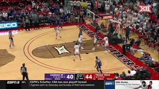 Kansas State at Texas Tech Men's Basketball Highlights
