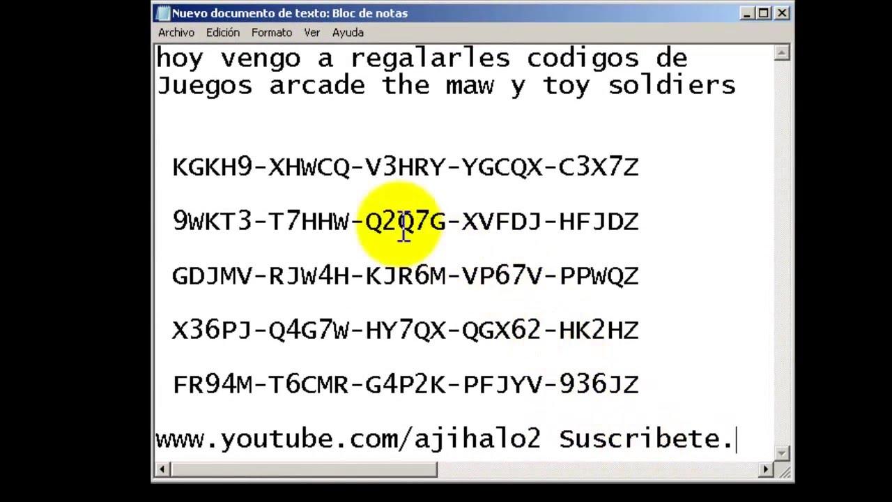 Codigos Juegos Arcade Gratis Youtube