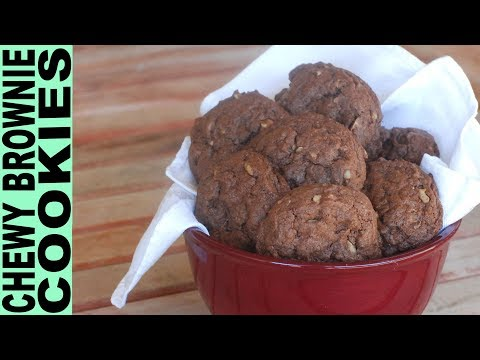 Gluten Free Chewy Brownie Cookies with Walnuts Gluten Free Cookie Recipes How To Make