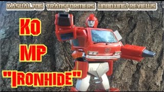Transformers KO MP Ironhide Tanaka Tony Robot Formers CP27 Unboxing Review Transformation