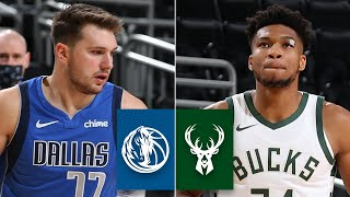 Watch highlights of luka doncic and the dallas mavericks as they take on giannis antetokounmpo milwaukee bucks in their second matchup 2020 nb...