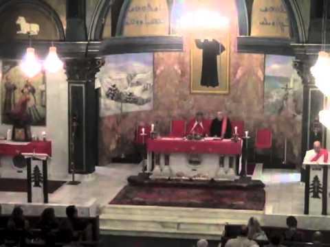 Bishop Massoud of Syria Mass in Saint Maron Cleveland USA Aug 2013