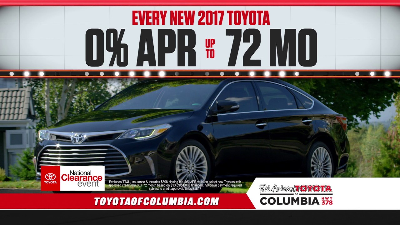 Fred Anderson Toyota Of Columbia Toyota S National