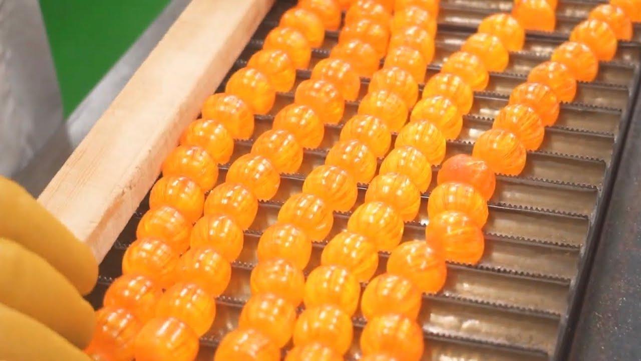 【製造風景】切りみかん飴の作り方