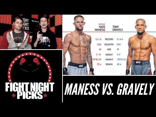 UFC Fight Night: Nate Maness vs. Tony Gravely Prediction