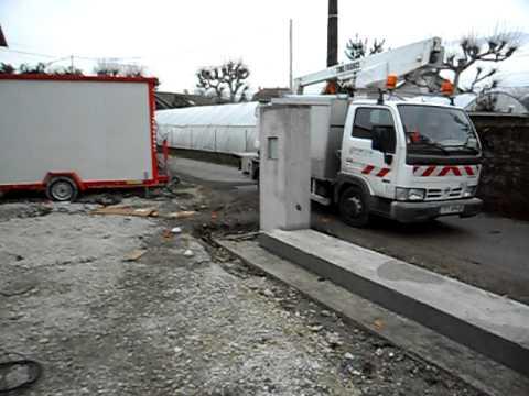 Pose de la ligne pour France Telecom