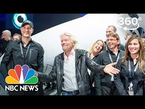 Virgin Galactic Unveils New SpaceShipTwo | 360 Video | NBC News