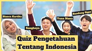 Download QUIZ PENGETAHUAN TENTANG INDONESIA | Youtuber Korea (@Bandung Oppa @Bianca Kartika @YUNA NUNA)