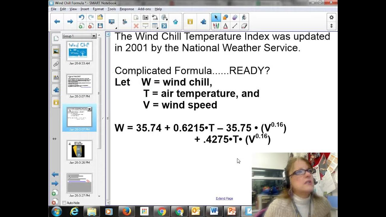 Wind Chill Factor Formula And Google Sheets