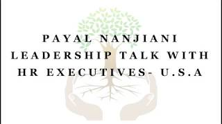 Payal Nanjiani Leadership | Motivational session for HR executives