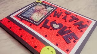 Love theme..♥️ Valentine's day card...♥️ One fold greeting card