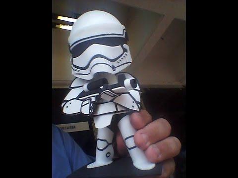 ec9fcbeea9f Star Wars bonecos de eva - YouTube