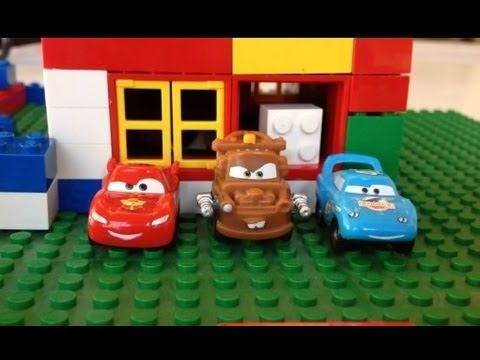 Cars 30k >> DIsney Pixar Cars Lightning McQueen, Tow Mater, Dinoco, Ishani at Lego City by ...