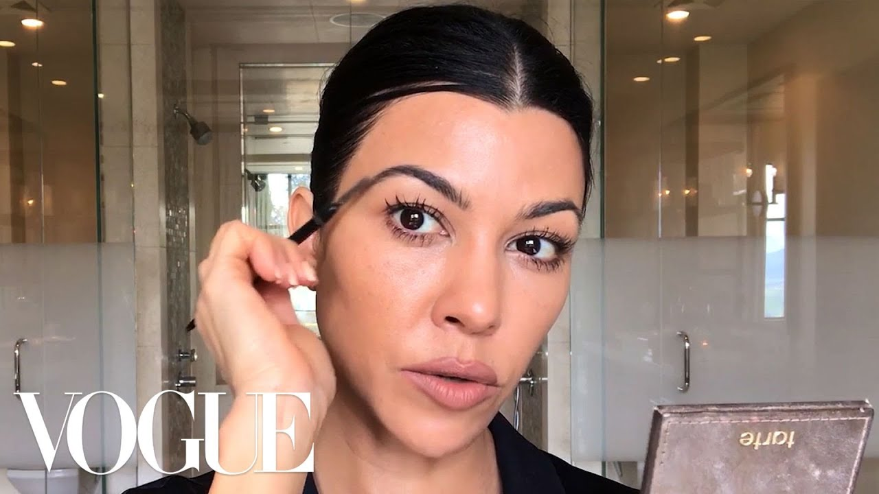 Kourtney Kardashian's Guide to Natural-ish Masking and Makeup ...