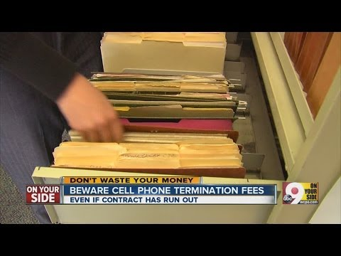 Beware of cellphone cancellation fees...even if your contract has expired?