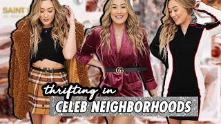 THRIFTING IN CELEBRITY/KARDASHIAN NEIGHBORHOODS