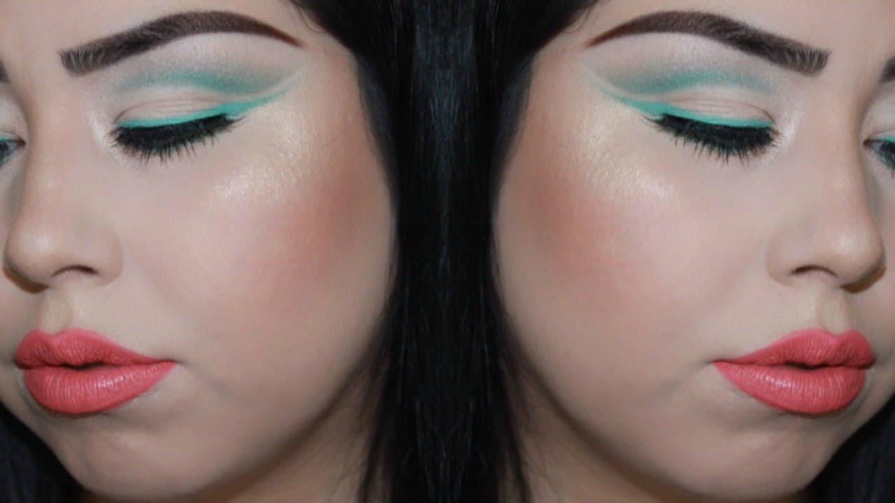 Aqua Eyeshadow Cut Crease | SandyyPerez - YouTube