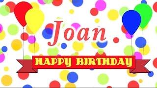 Happy Birthday Joan Song