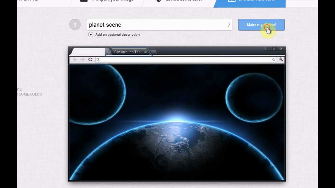 how to create and install your own google chrome theme hd youtube