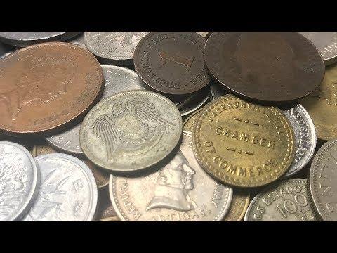 ARABIC SILVER & 1850s COIN FOUND World Coin Loot Bag Searching - Bag #21