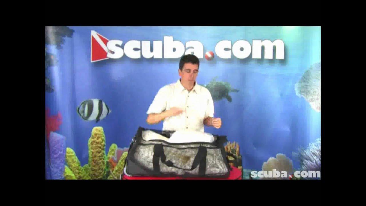 57517748859e XS Scuba Wheeled Mesh Duffel Bag Video Review - YouTube