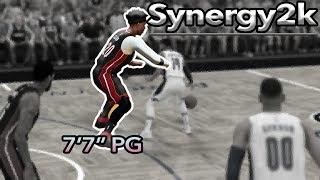 "7'7"" Point Guard!? NBA 2k19 Synergy2k Tutorial + Gameplay"