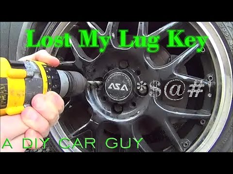 Remove Locking Lug Nut Without The Key Drilling Out